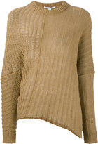 Stella McCartney rib knit jumper - women - Linen/Flax - 38