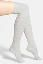 Lemon &Beach Blossom& Textured Over the Knee Socks