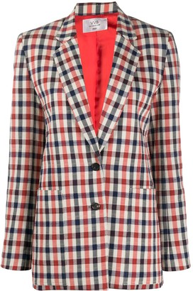 Victoria Victoria Beckham Checked Fitted Blazer