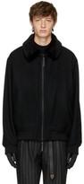 Robert Geller Black Wool Thomas Bomber Jacket