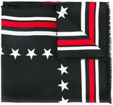 Givenchy '17' print scarf - women - Virgin Wool/Silk - One Size