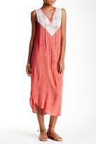 Scrapbook Lace Yoke Midi Shift Dress