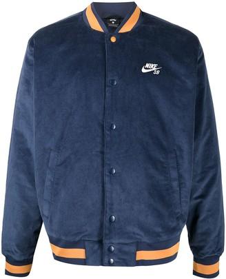 Nike Logo-Embroidered Varsity Jacket