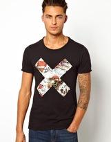 Pull&Bear T-Shirt with X Print