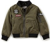 First Wave Little Boys 2T-7 Patch Bomber Jackets