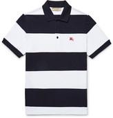 Burberry Slim-Fit Striped Cotton-Piqué Polo Shirt