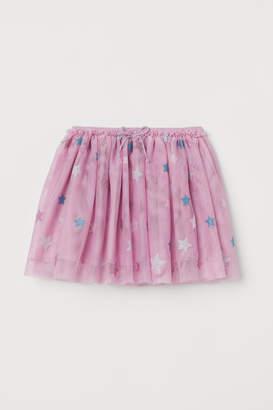 H&M Glittery Tulle Skirt - Pink