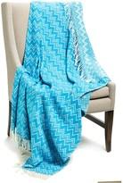 """Peacock Alley Chevron Throw Blanket - 50x70"""", Cotton-Acrylic"""