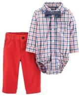 Carter#39;S carter's Newborn 3-Piece Dressy Bow Tie Set in Coral