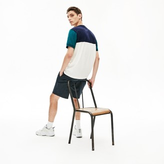 Lacoste Mens Colorblock Regular Fit Cotton Jersey T-shirt