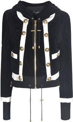 Balmain Button-embellished Quilted Jacket
