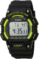 Casio Men's 'Super Illuminator' Quartz Resin Casual Watch, Color: Black (Model: W736H-3AV)