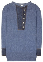 Stella McCartney Denim-trimmed sweater
