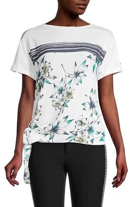 Fever Border Printed Floral T-Shirt