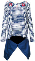 Antonio Marras skirt applique striped sweatshirt