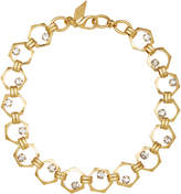 Nicole Romano 18K Gold-Plated Bolt Crystal Necklace