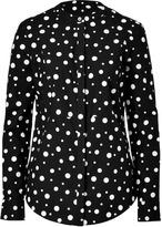 Suno Black/White Polka Dot Cotton Shirt