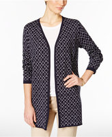 Charter Club Petite Iconic-Print Cardigan, Only at Macy's