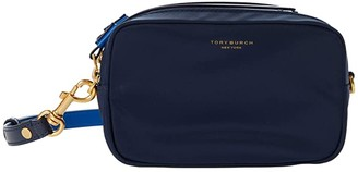 Tory Burch Perry Nylon Color-Block Mini Bag (Royal Navy) Handbags