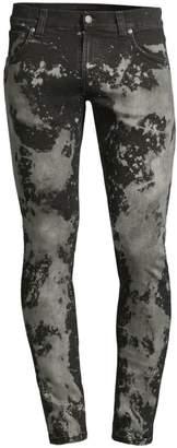 Nudie Jeans Tight Terry Punky Worn Acid Wash Skinny Jeans