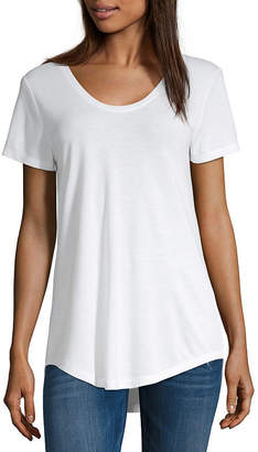 A.N.A Tall Womens Scoop Neck Short Sleeve T-Shirt