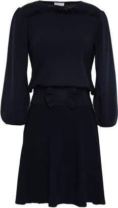 Claudie Pierlot Bow-detailed Ribbed Stretch-knit Mini Dress