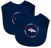 Baby Fanatic NFL Baby Bib 2 pack with Velcro- Denver Broncos