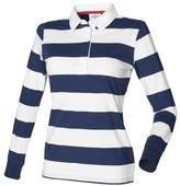 Front Row Womens/Ladies Striped Rugby Polo Shirt (M)