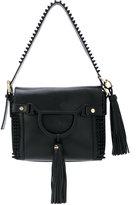 Borbonese fringed shoulder bag - women - Cotton/Leather - One Size