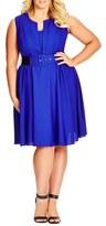 City Chic Plus Size Women's 'Vintage Veroni' Fit & Fare Dress