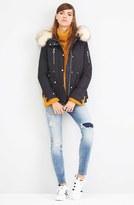 Topshop Women's Trevor Parka With Faux Fur Trim Hood