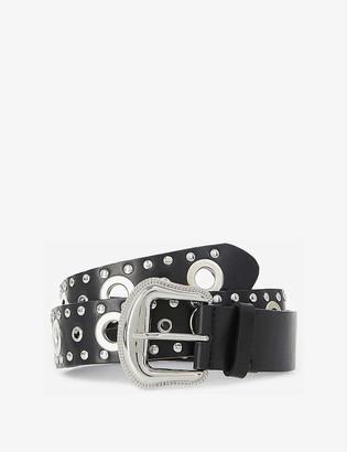 The Kooples Stud-detail leather belt
