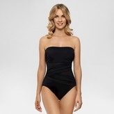 Dreamsuit by Miracle Brands Women's Slimming Control Mesh Bandeau One-Piece Swimsuit - Dreamsuit® by Miracle Brands