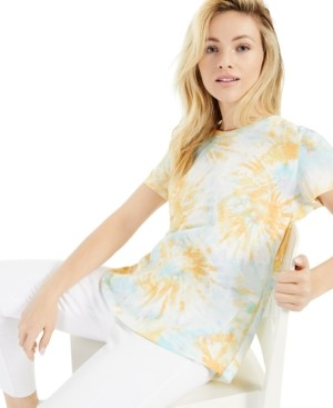 Style&Co. Style & Co Cotton Tie-Dyed T-Shirt, Created for Macy's