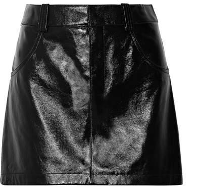 Chloé Glossed-leather Mini Skirt - Black