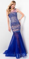 Terani Couture Fully Beaded Exposed Back Fitted Prom Dress