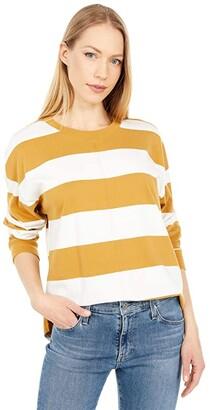 Madewell Delancey Long Sleeve Tee (Sahara Sand) Women's Clothing