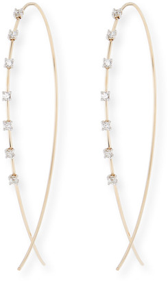 Lana Large Solo Upside Down Diamond Hoop Earrings