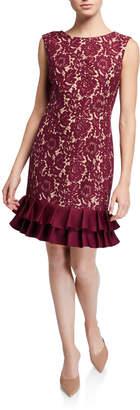 Donna Ricco Bonded Lace Sleeveless Sheath Dress