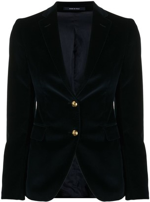 Tagliatore Textured Embossed Button Blazer