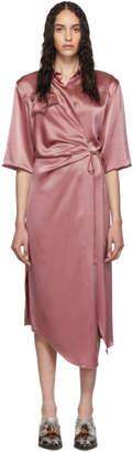 Nanushka Pink Lais Draped Dress