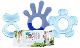 Nuby 3 Stage Teething System with 4pk Citroganix Teether Wipes