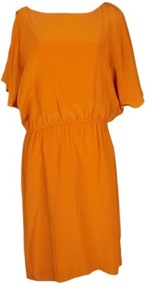 Halston Orange Silk Dresses