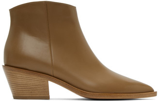 Gianvito Rossi Taupe Frankie Boots