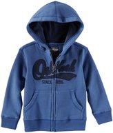 Osh Kosh Logo Fleece Hoodie (Baby) - Heather-12 Months