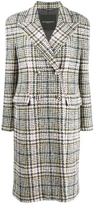 Ermanno Scervino Houndstooth-Print Double Breasted Coat