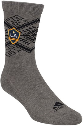 adidas Women's Heathered Gray LA Galaxy Tribal Crew Socks