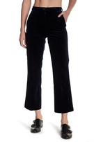 MiH Jeans Cropped Velvet Flared Pant