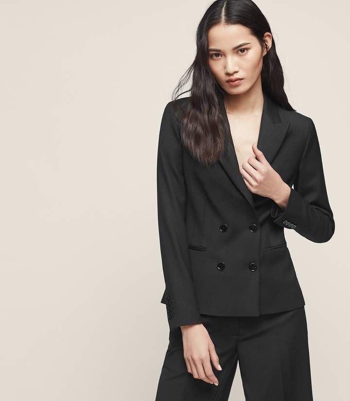 Reiss Huxley Cropped Jacket Cropped Double-Breasted Blazer