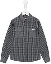 MSGM checked pattern shirt
